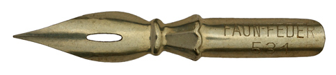 Antike Spitzfeder, Faun-Feder, No. 531
