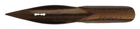 Antike Spitzfeder, Mathias Salcher & Söhne (Massag), No. 666 EF
