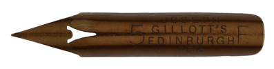 Antike Spitzfeder, Joseph Gillott & Sons Ltd., No. 5 F, Edinburgh Pen