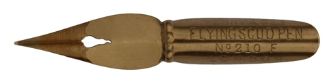 Antike Spitzfeder, Perry & Co Ltd., No. 210 F, Flying Scud Pen