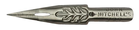 Antike Kalligraphie Spitzfeder, John Mitchell, No. 727, Schellfisch-Feder