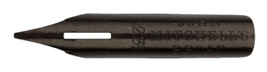 Antike Spitzfeder, John Mitchell, No. 0232, Broad, Typ 1