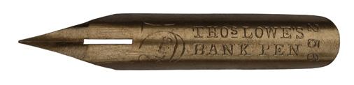 Antike Spitzfeder, Thomas Lowe, No. 256, Bank Pen, 5 Slits