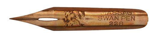 Antike Kalligraphie Spitzfeder, Mathias Salcher & Söhne (Massag), No. 228, Swan Pen