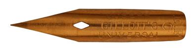 Antike Kalligraphie Spitzfeder, Joseph Gillott, No. 725 EF, Universal C