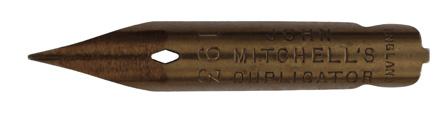 Antike Kalligraphie Spitzfeder, John Mitchell, No. 193, Duplicator, Durchschreibfeder