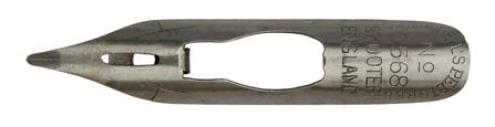 Antike Kalligraphie Schreibfeder, William Mitchell, No. 0568, Skooter Pen