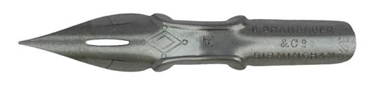 Antike Kalligraphie Spitzfeder, C. Brandauer & Co, No. 128 F