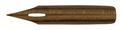 Antike Kalligraphie Spitzfeder, Joseph Gillott & Sons, No. 427, Fine Point, National School Pen