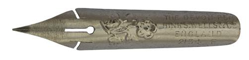 Antike Kalligraphie Spitzfeder, Hinks, Wells & Co, No. 2134 F, Devon Pen