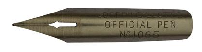 Antike Kalligraphie Schreibfeder, Joseph Gillott & Sons, No. 1065, Official Pen