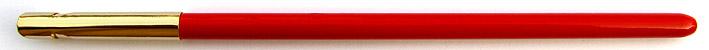 Federhalter mit Metallzwinge, Rot / Gold