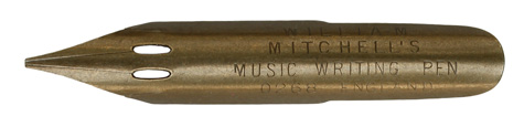 William Mitchell, No. 0268, Music Writing Pen, Notenfeder
