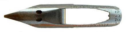 Antike Notenfeder, Brause & Co, No. 523, mit kleinen Rostflecken