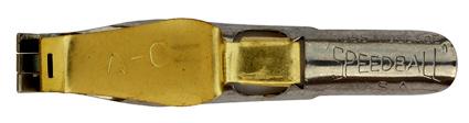 Schreibfeder mit quadratischer Schreibplatte, C. Howard Hunt Pen Co., Speedball Pen, A-0, 5,2mm