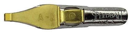 Schreibfeder mit quadratischer Schreibplatte, C. Howard Hunt Pen Co., Speedball Pen, A-2, 2,4mm