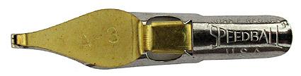 Schreibfeder mit quadratischer Schreibplatte, C. Howard Hunt Pen Co., Speedball Pen, A-3, 1,95mm
