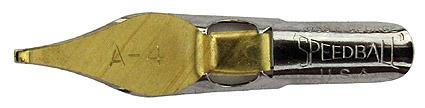 Schreibfeder mit quadratischer Schreibplatte, C. Howard Hunt Pen Co., Speedball Pen, A-4, 1,1mm