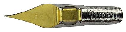 Schreibfeder mit quadratischer Schreibplatte, C. Howard Hunt Pen Co., Speedball Pen, A-5, 0,7mm