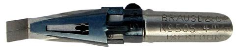 Antike Rechteckplattenfeder, Brause & Co, No. 505, 4mm