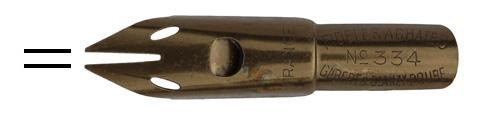 Antike Kalligraphie Doppelstrich-Feder, Gilbert & Blanzy-Poure, No. 334, Fideles Achates