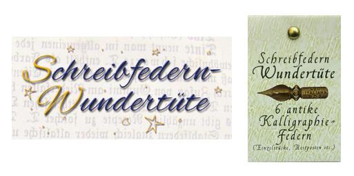 Kalligraphie-Federn, Überraschungs-Sortiment mit 6 Federn, in der Geschenkverpackung