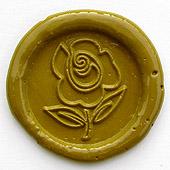 Siegelstempel-Platte, Rose