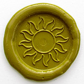 Siegelstempel-Platte, Sonne