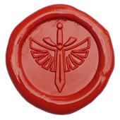 Siegelstempel-Platte, Flügel-Schwert
