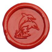 Siegelstempel-Platte, 2 Delphine