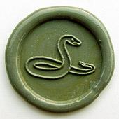 Siegelstempel-Platte, Schlange