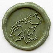 Siegelstempel-Platte, Frosch