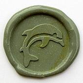Siegelstempel-Platte, Delphin