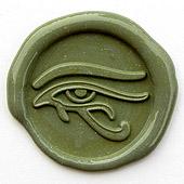 Siegelstempel-Platte, Auge des Horus