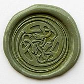 Siegelstempel-Platte, Keltisches Ornament