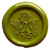 Siegelstempel-Platte, Engel