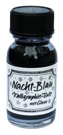 Nachtblau mit Glitzer, Kalligraphie-Tinte