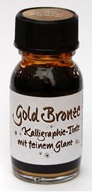 Goldbronze, Kalligraphie-Tinte