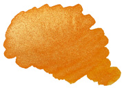 Farbmuster Gold-Orange, Kalligraphie-Tinte