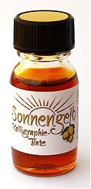 Sonnengelb Kalligraphie-Tinte