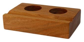 Tinten-Faßhalter für 2 Tinten, Ulmenholz