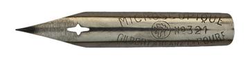 Antike Zeichenfeder, Gilbert & Blanzy-Poure, No. 321bis, Microscopique