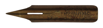 Antike Zeichenfeder, C. Howard Hunt Pen Co, No. 99, Drawing, Typ 2