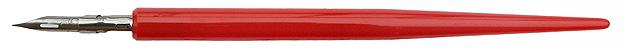 Zeichenfederhalter von Brause & Co, mit Zeichenfeder No. 511, rot