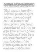 Kalligraphie Übungsblätter Kanzleischrift, Beispiel 3