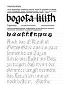 Kalligraphie Übungsblätter Rundgotisch, Beispiel 3