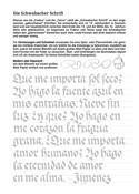Kalligraphie Übungsblätter Schwabacher, Beispiel 3