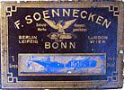 Antike Schreibfeder-Schachtel, F. Soennecken, No. 162 F