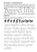 Kalligraphie Übungsblätter, Karolingische Minuskel, Beispiel 2