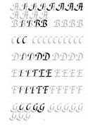 Kalligraphie Übungsblätter, Bastarda, Beispiel 2